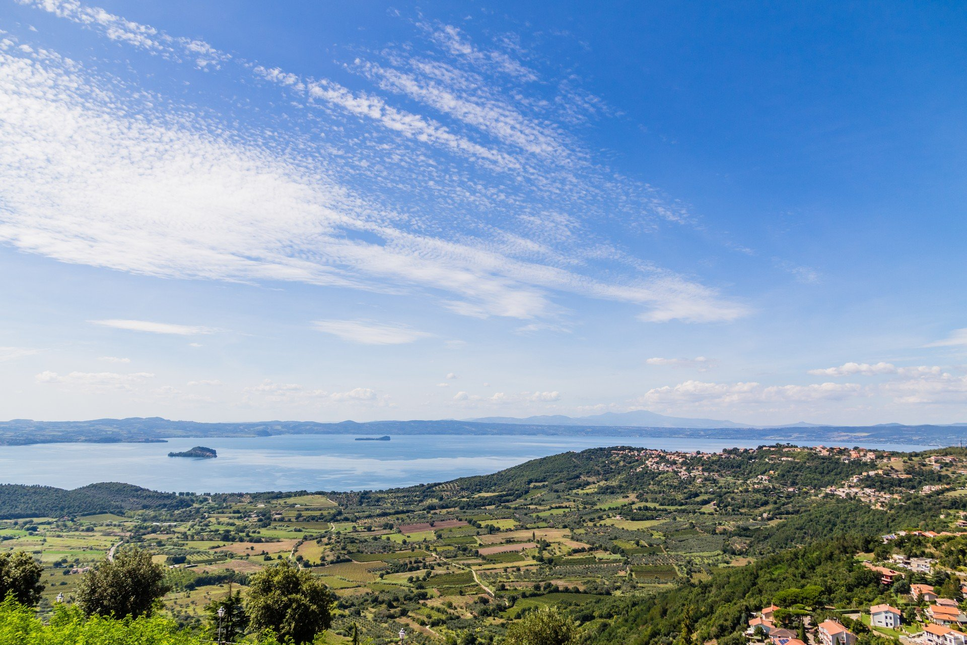 view of lake Bolsena, Italy